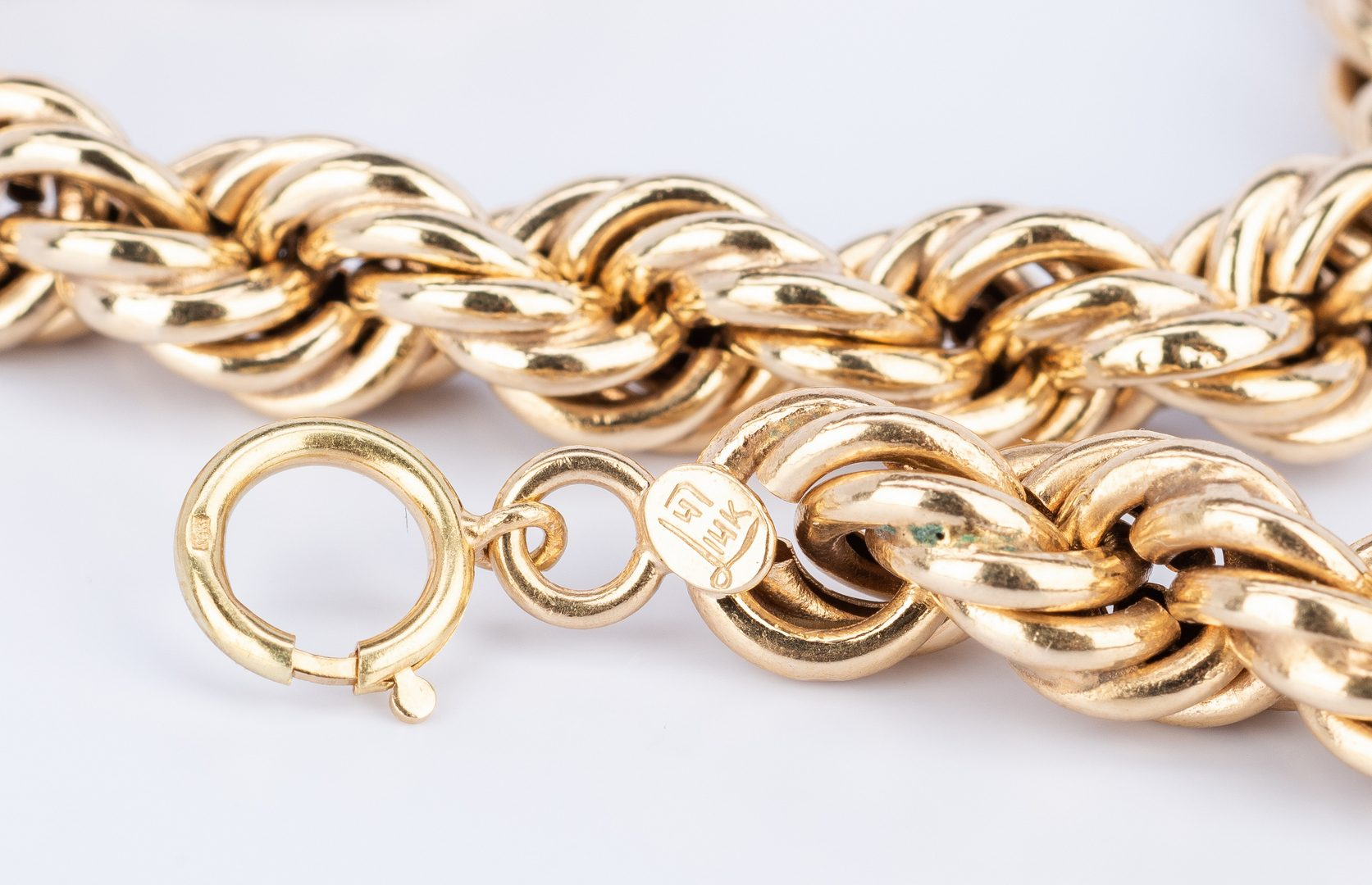 Lot 402: 3 Piece Set 14k Rope Jewelry