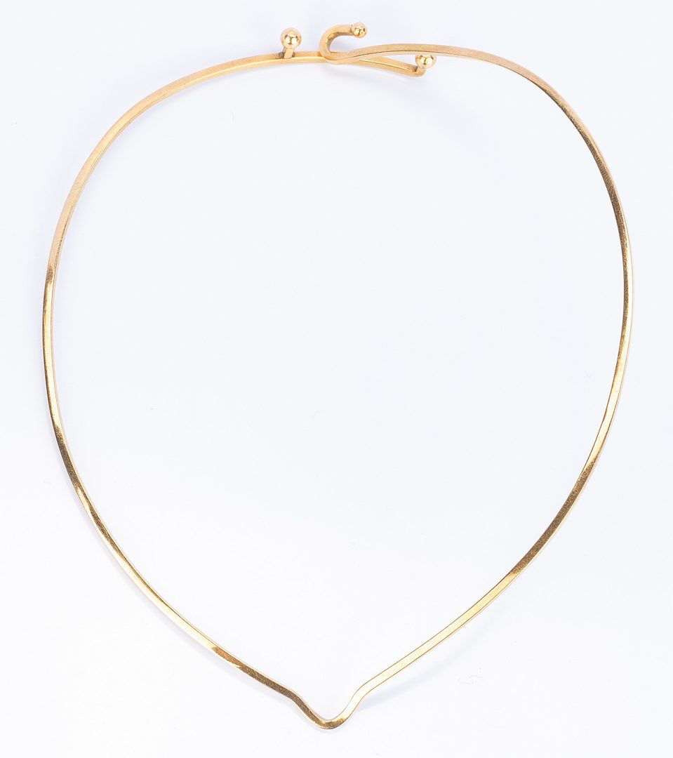 Lot 404: 2 Gold Designer Choker Necklaces