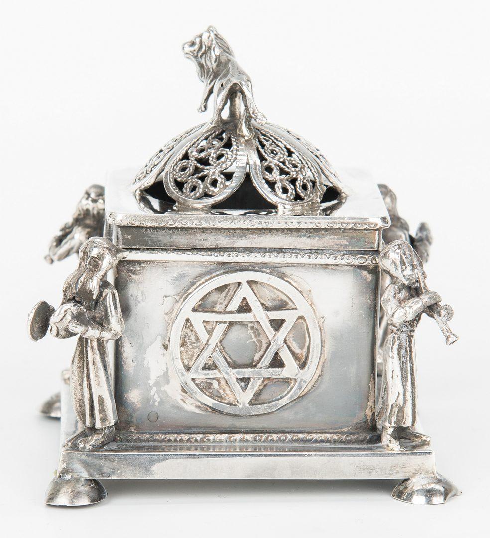 Lot 413: Russian .84 Silver Judaica Spice Holder