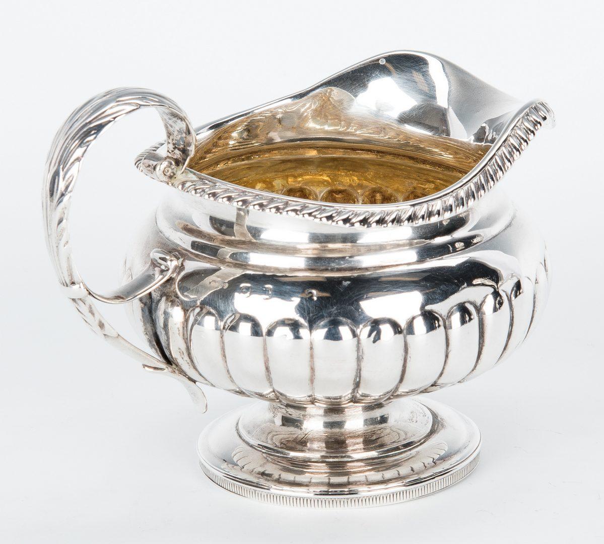 Lot 415: 4 pcs British Sterling Tea Wares