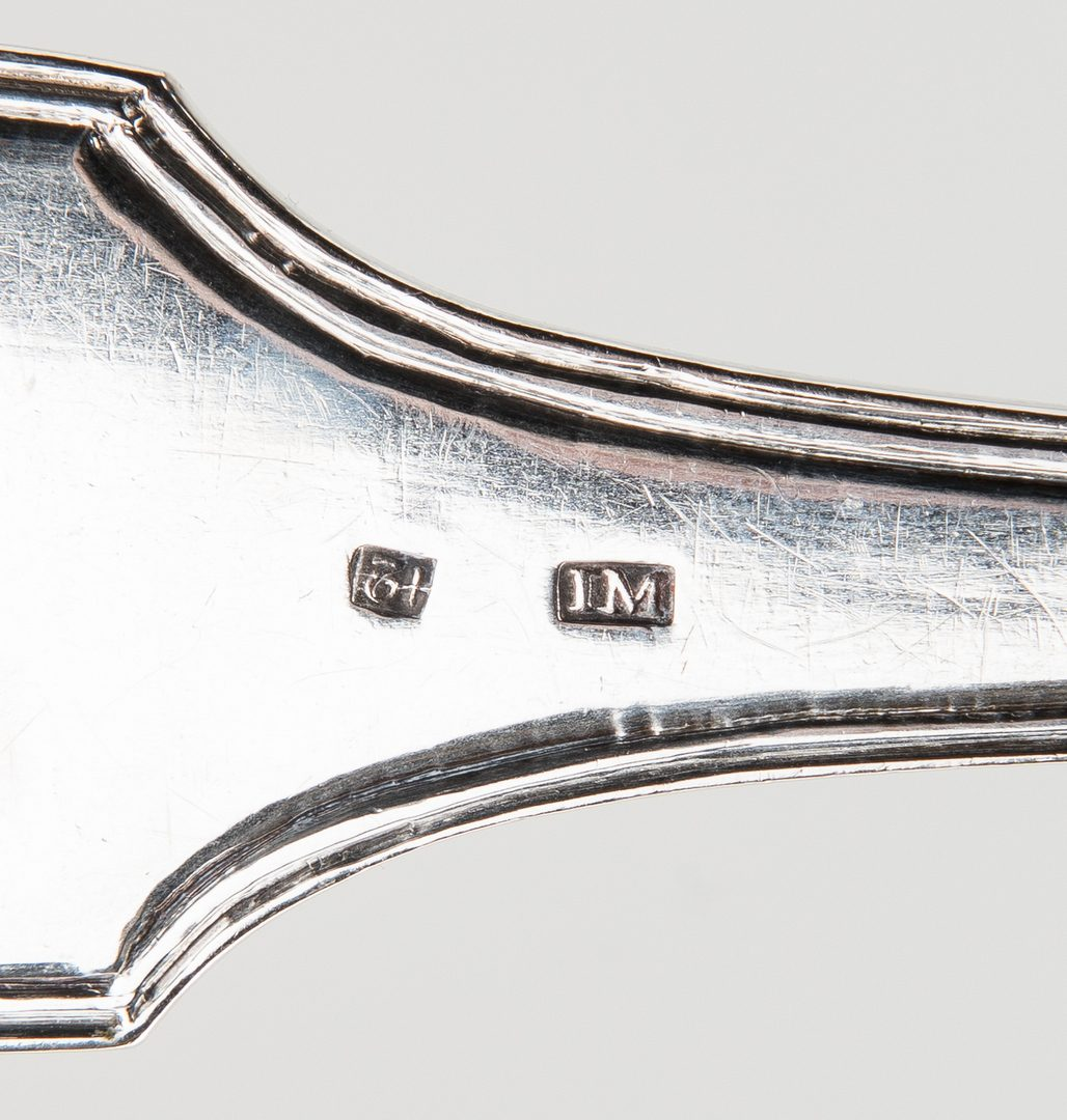 Lot 417: 21 pcs Silver Flatware incl. Stuffing Spoon