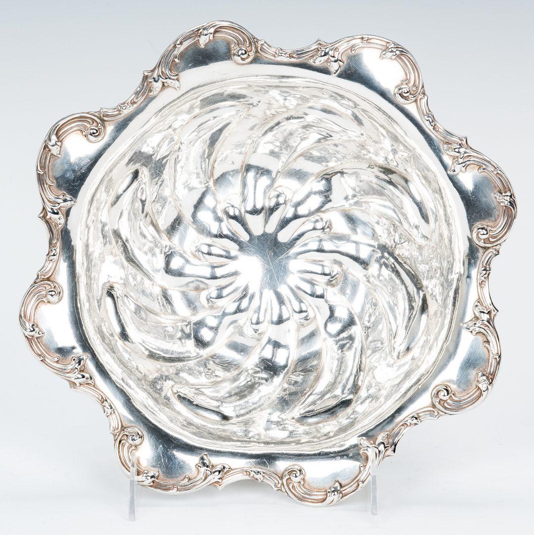 Lot 418: Sterling Bowl, Mug, and 10 pcs coin silver flatware