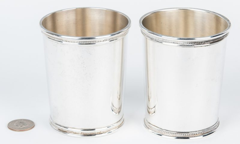 Lot 421: 2 Scearce Presidential Silver Julep Cups