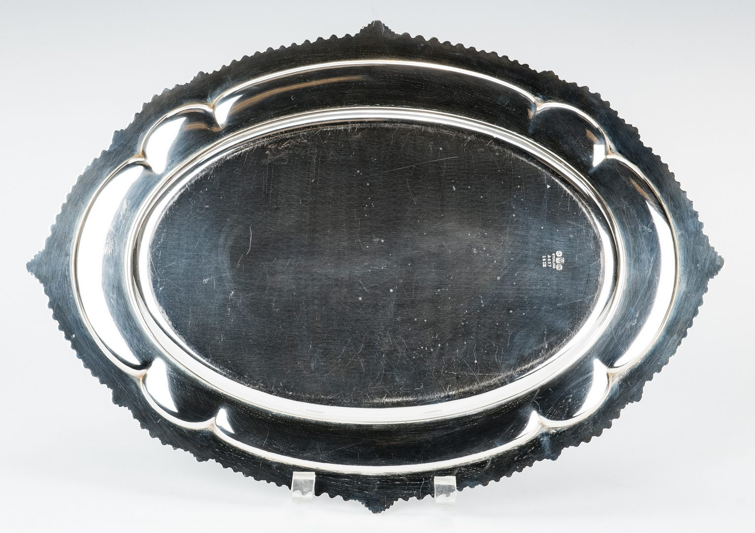 "Lot 424: Gorham 16"" Sterling Silver Oval Tray"