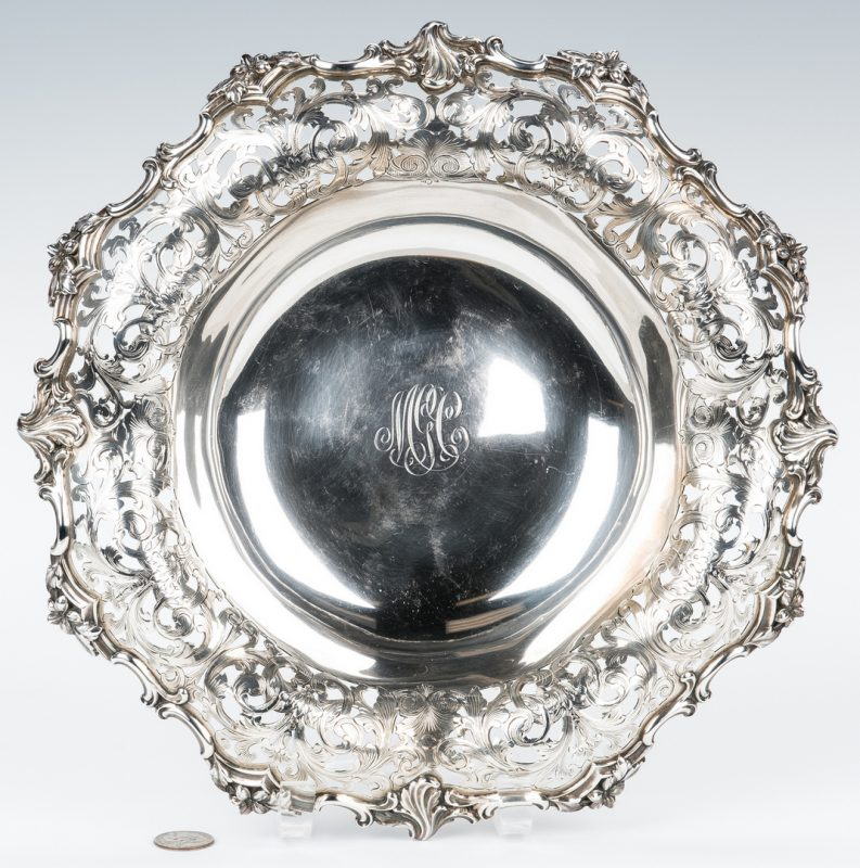 Lot 425: Tiffany Sterling Silver Centerpiece Bowl