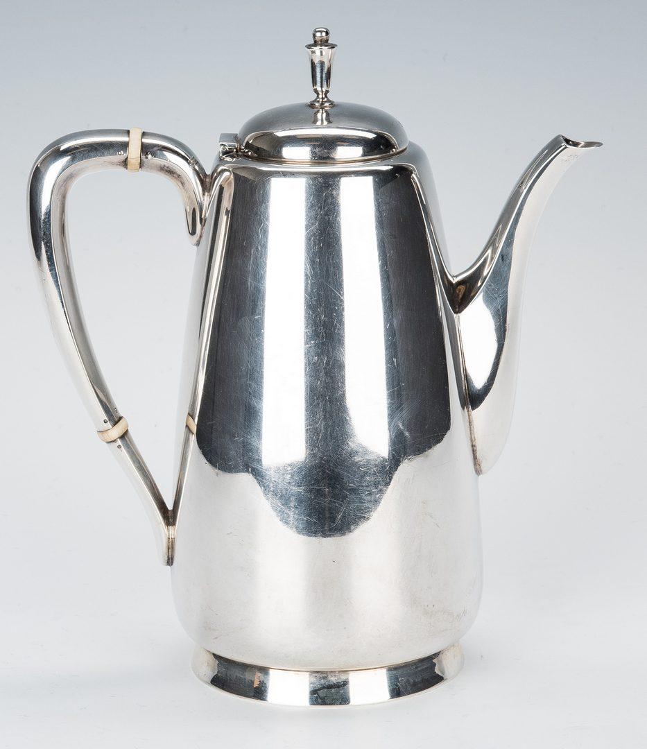 Lot 427: 5-pc. Reed & Barton Sterling Tea Set & Pr. Gorham Candelabra