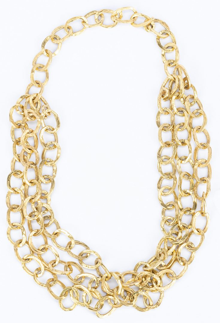 Lot 42: 18k Gold Chain Necklace Set, 240 grams