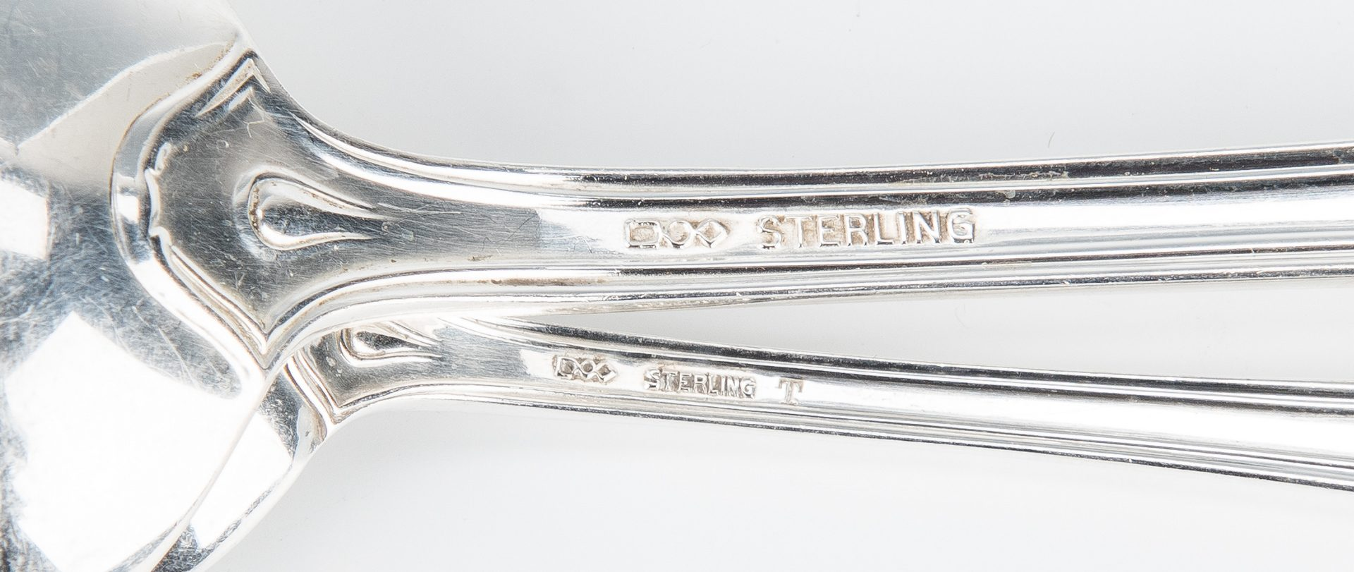Lot 432: Dominick & Haff La Salle Pattern Sterling Flatware