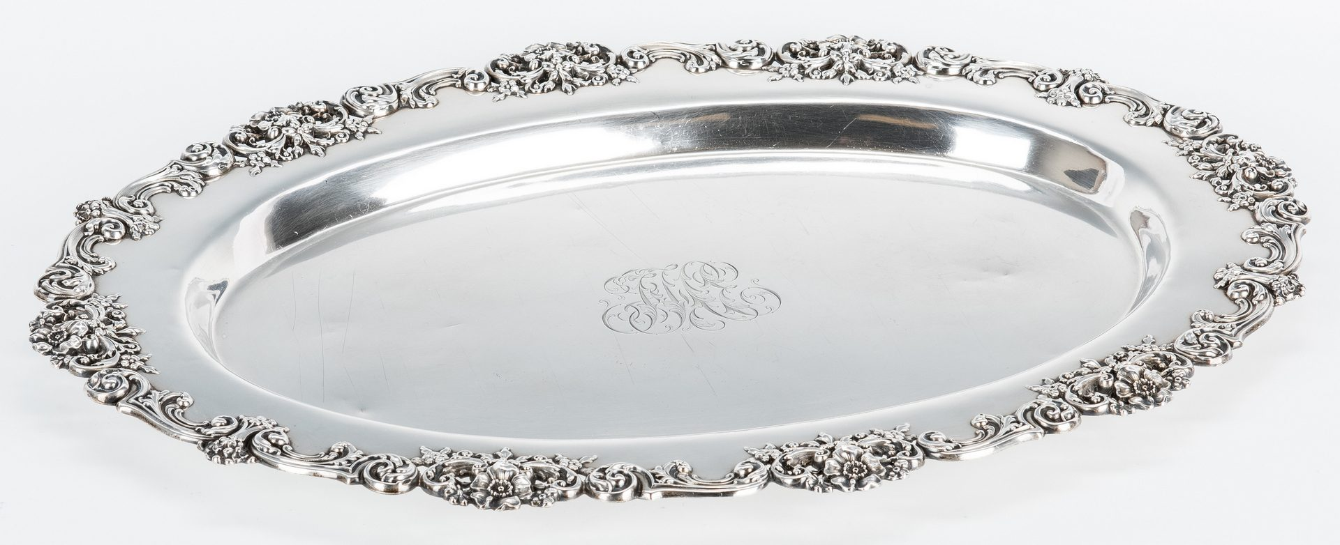 Lot 434: Redlich & Co. Oval Sterling Tray