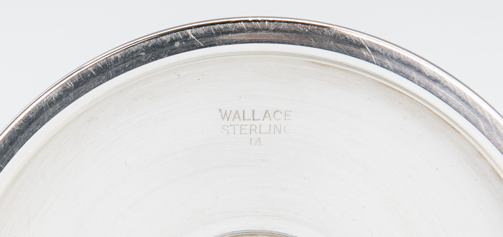 Lot 436: 8 Wallace Sterling Silver Goblets