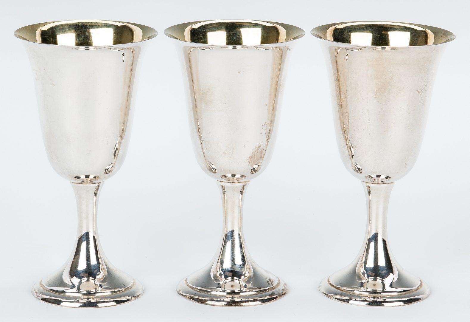 Lot 438: 10 Alvin Sterling Silver Goblets