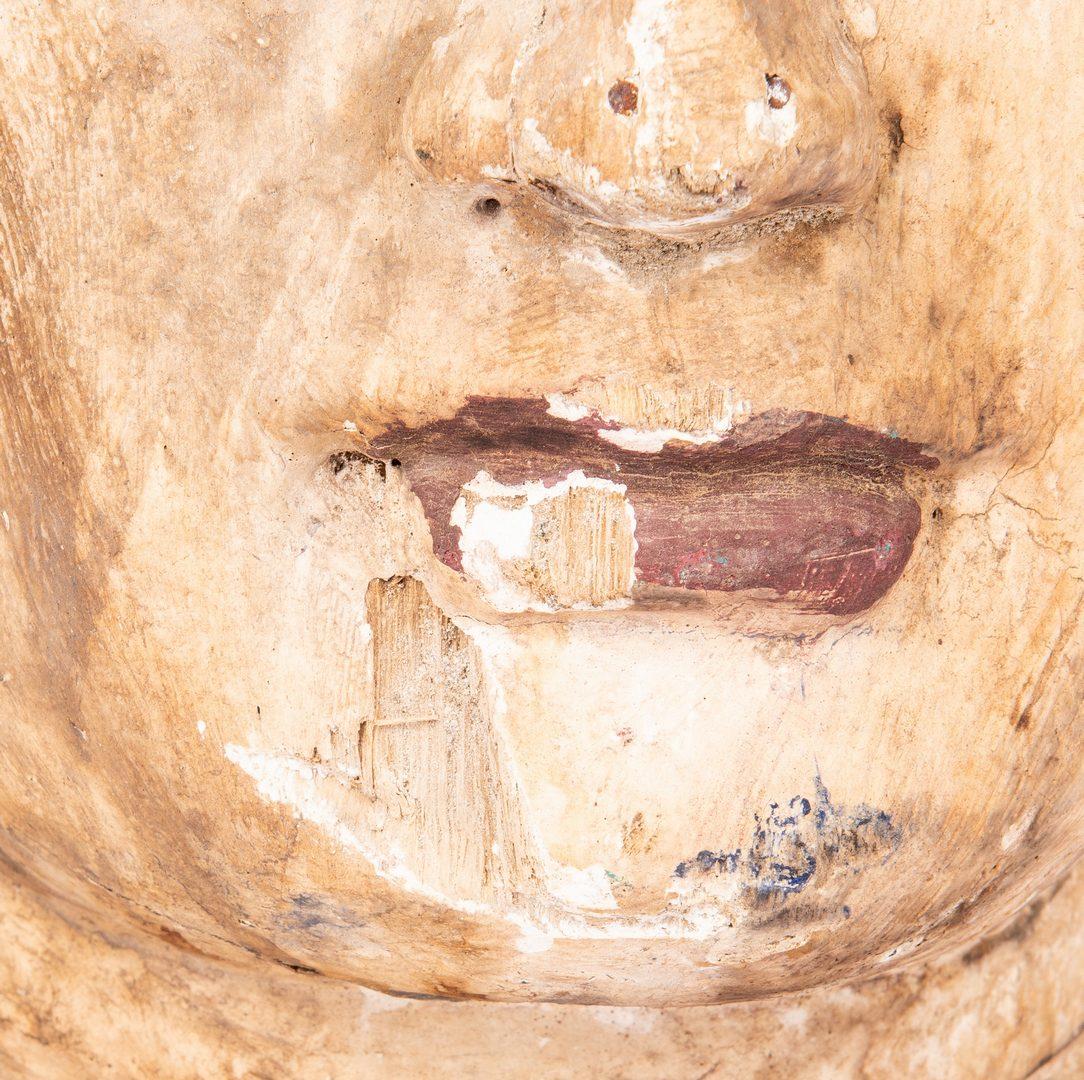 Lot 444: Polychrome Painted SE Asian Head