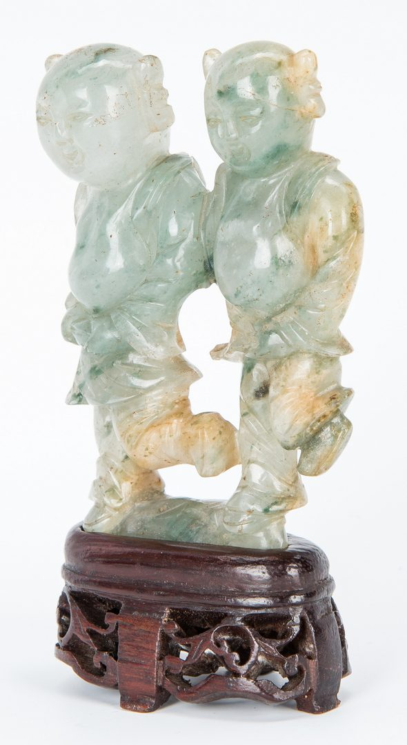 Lot 450: Jade Carving of Happy Twins