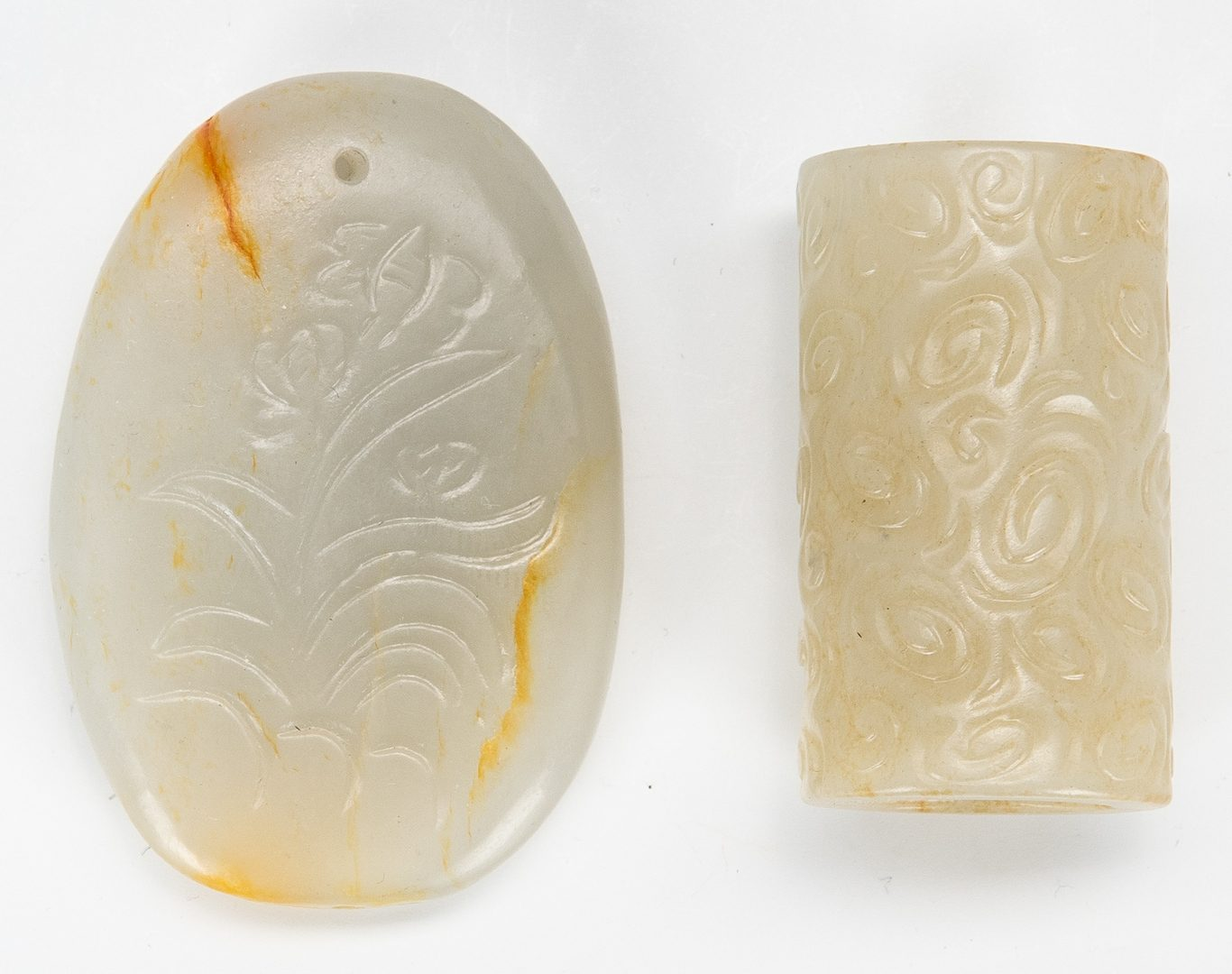 Lot 453: 11 Chinese Carved Jade items