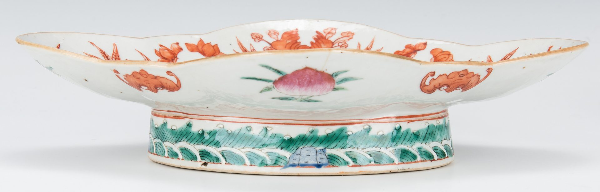 Lot 458: Pr. Chinese Famille Verte Porcelain Dishes