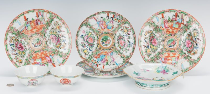 Lot 462: 7 Pcs Chinese Export, incl. Rose Medallion