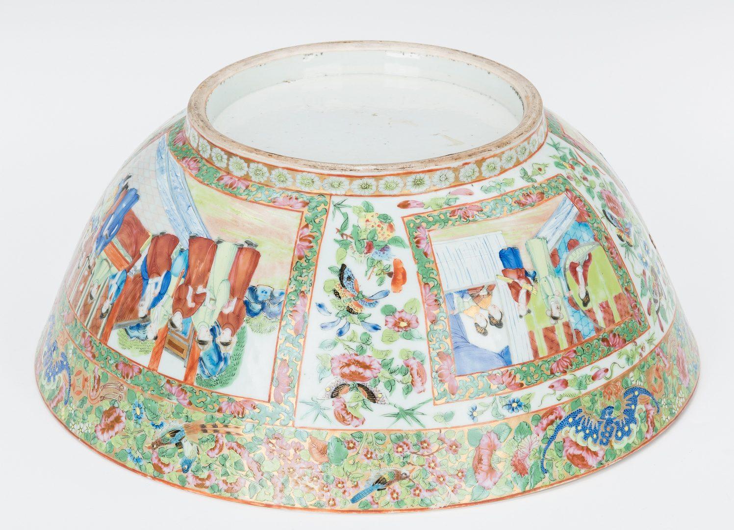 Lot 464: Rose Mandarin Punch Bowl and Dish