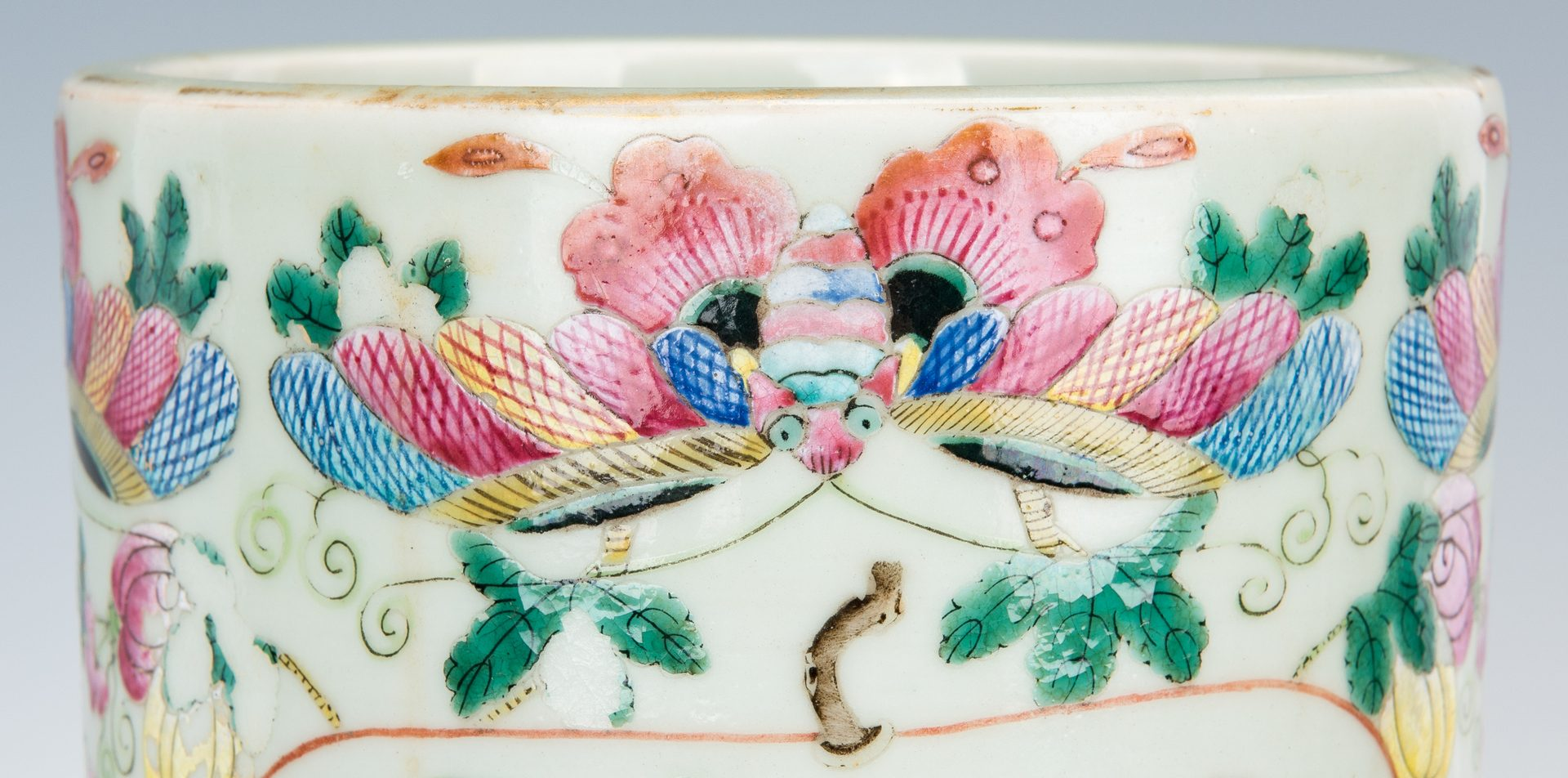 Lot 466: Chinese Famille Rose Umbrella Stand