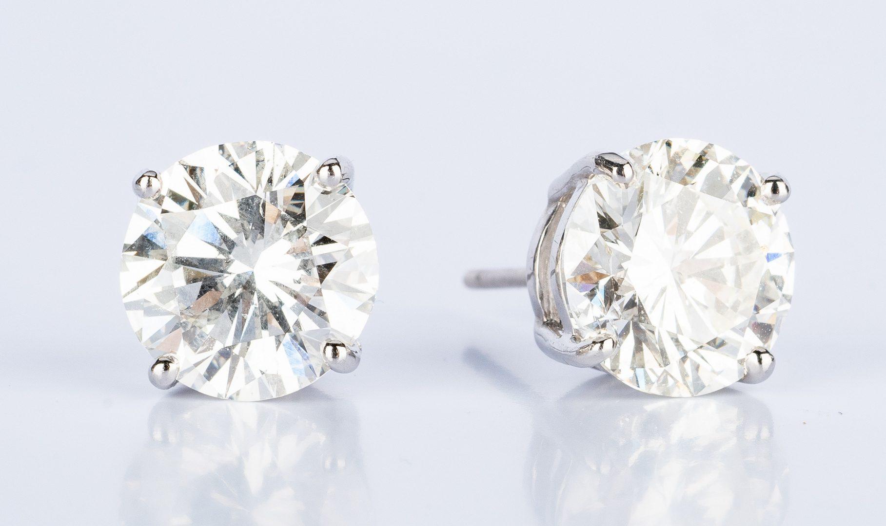 Lot 46: Diamond Stud Earrings, 8.34 ct t.w. GIA