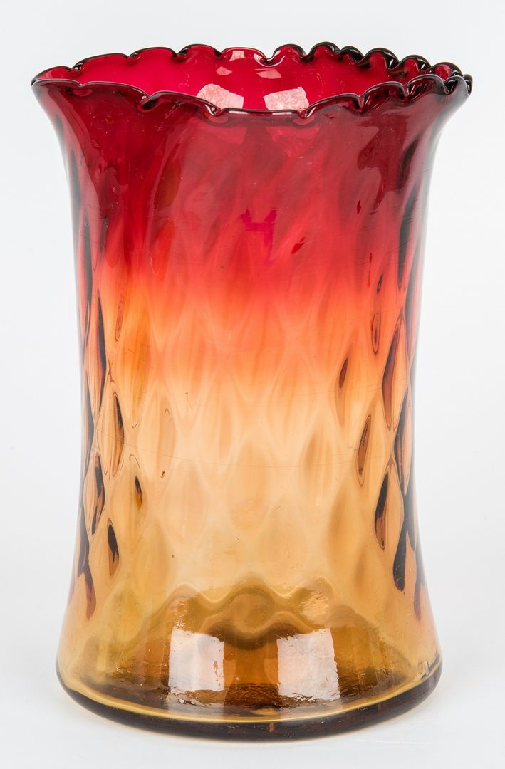 Lot 477: Group of 13 Art Glass Items, incl. Peachblow