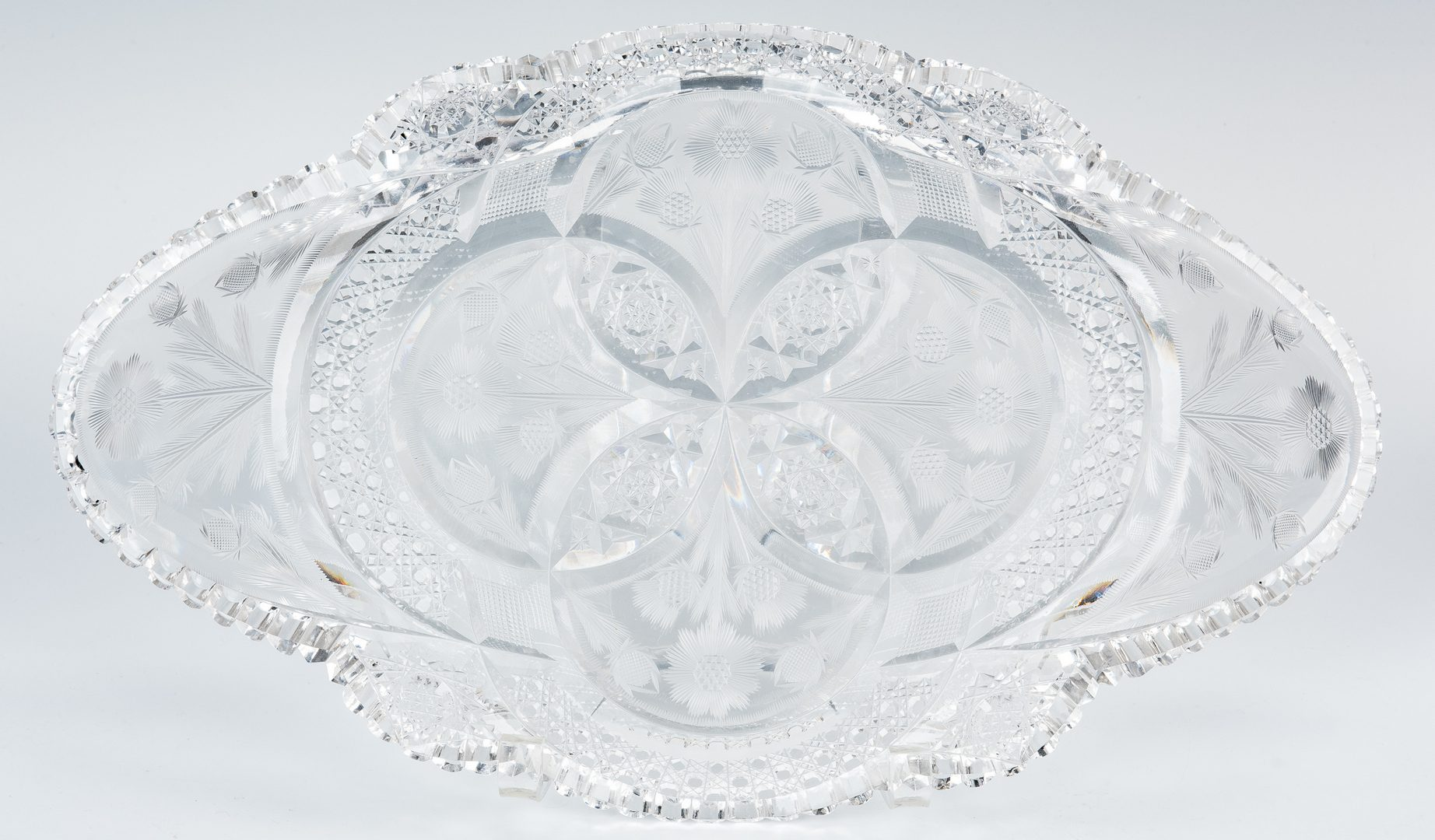 Lot 478: Signed Hoare ABP Cut Glass Ice Cream Tray