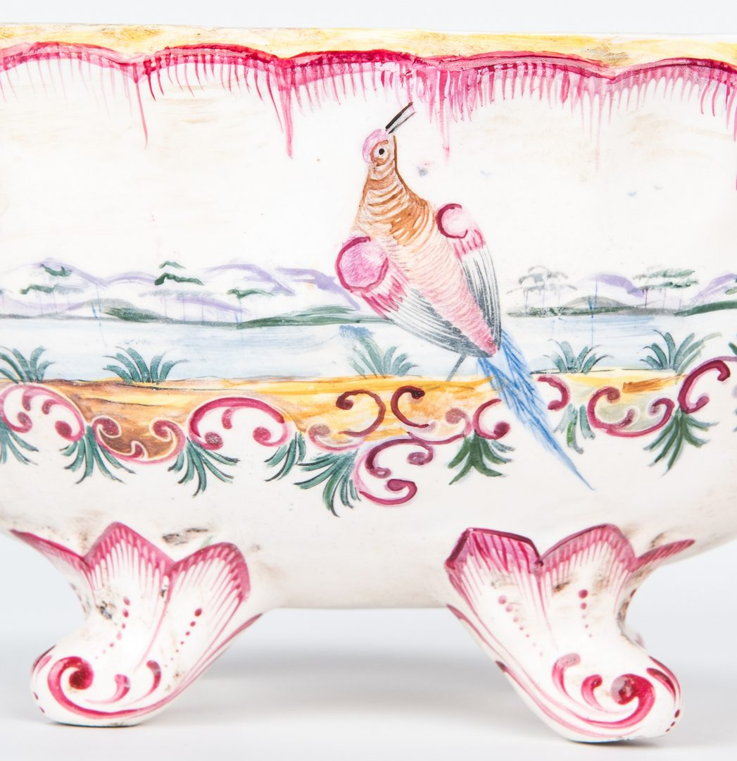 Lot 483: Faience Sauce Tureen and Underplate