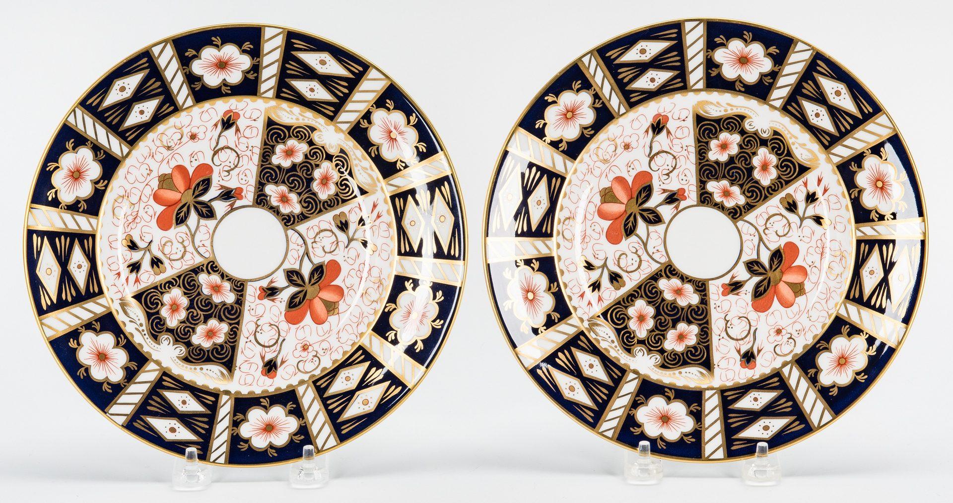 Lot 485: 33 Pcs. Royal Crown Derby Imari Porcelain Dinnerware