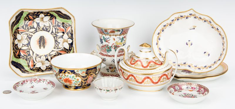 Lot 487: 10 Assorted English Porcelain Table items