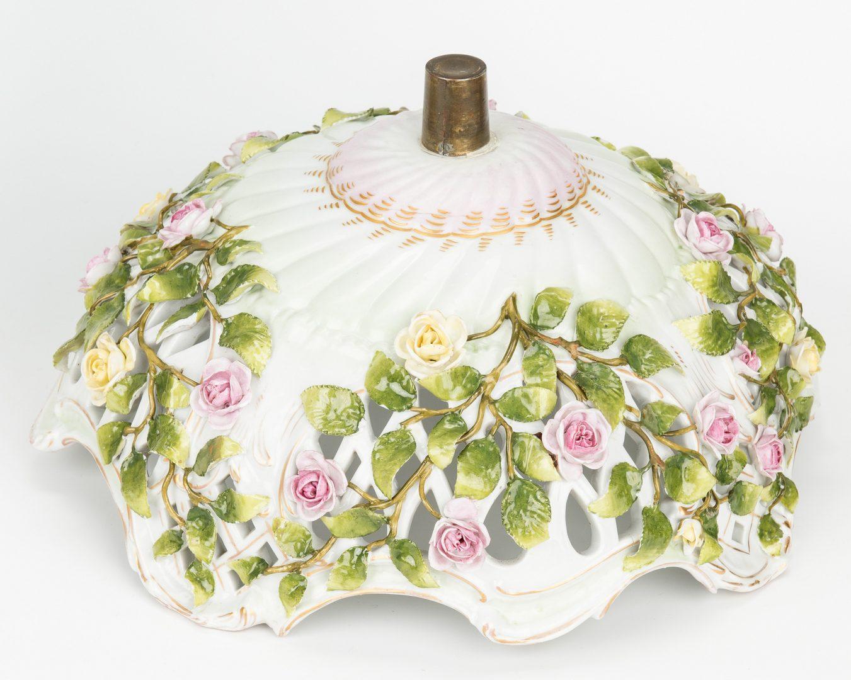 Lot 489: German Porcelain Figural Centerpiece