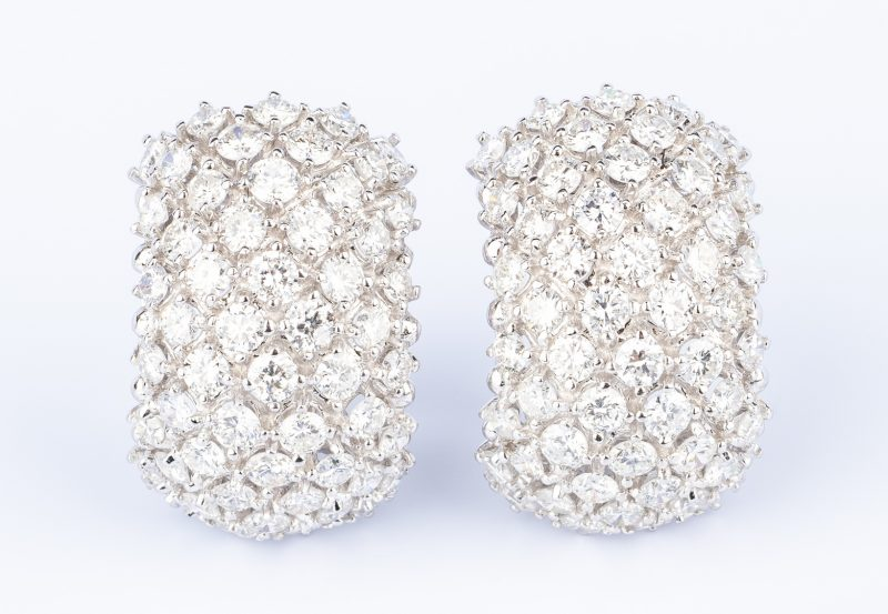 Lot 48: 18K Craig Drake Diamond Earrings. 8.67 ct t.w.