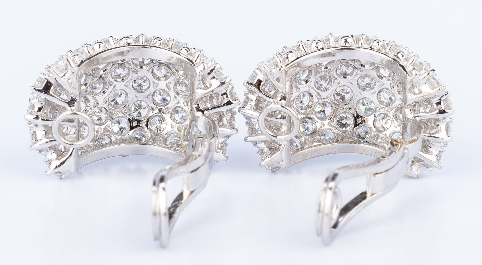 Lot 48: 18K Craig Drake Diamond Earrings. 8.67 ct t.w.