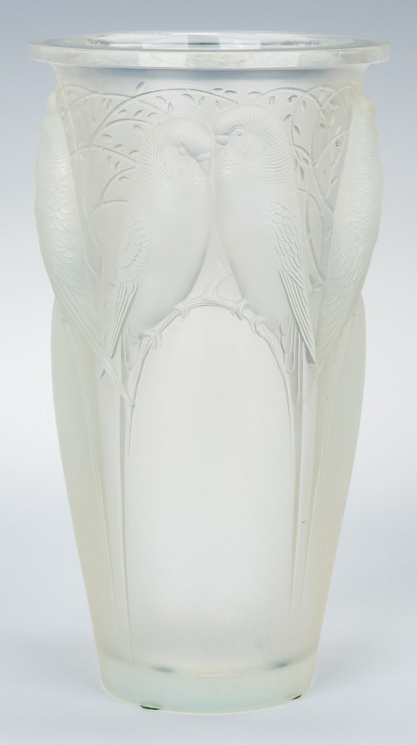 Lot 493: R. Lalique Opalescent Glass Ceylan Vase