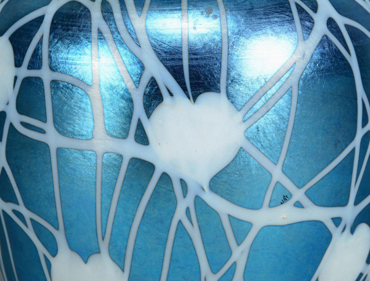 Lot 499: Durand Glass Hanging Heart Design Vase