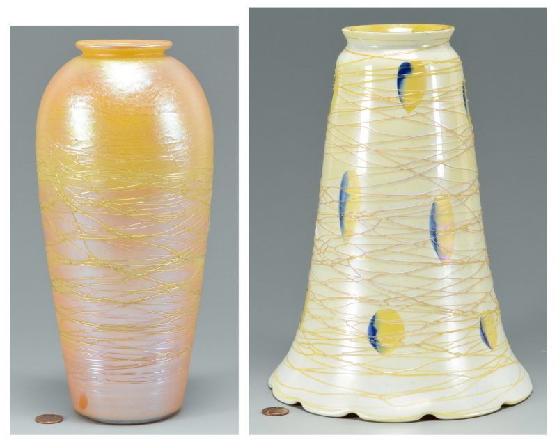 Lot 503: 2 Durand Art Glass Items, Shade & Vase