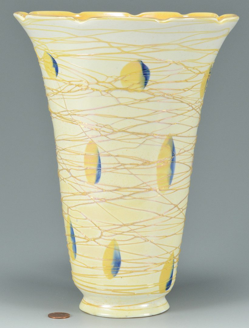 Lot 503: 2 Durand Art Glass Items, Shade & Vase