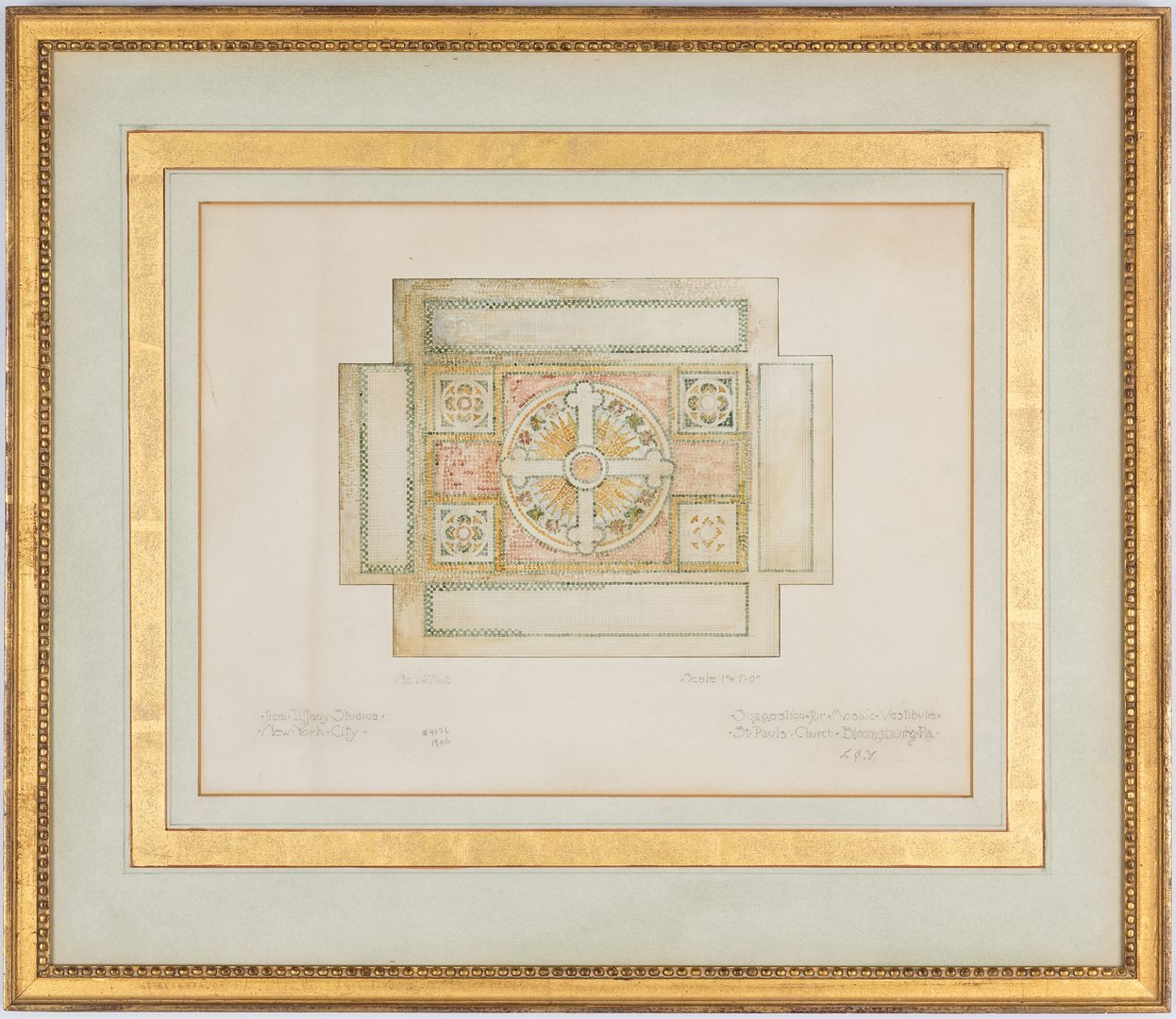 Lot 510: Tiffany Studios Watercolor Design for a Mosaic