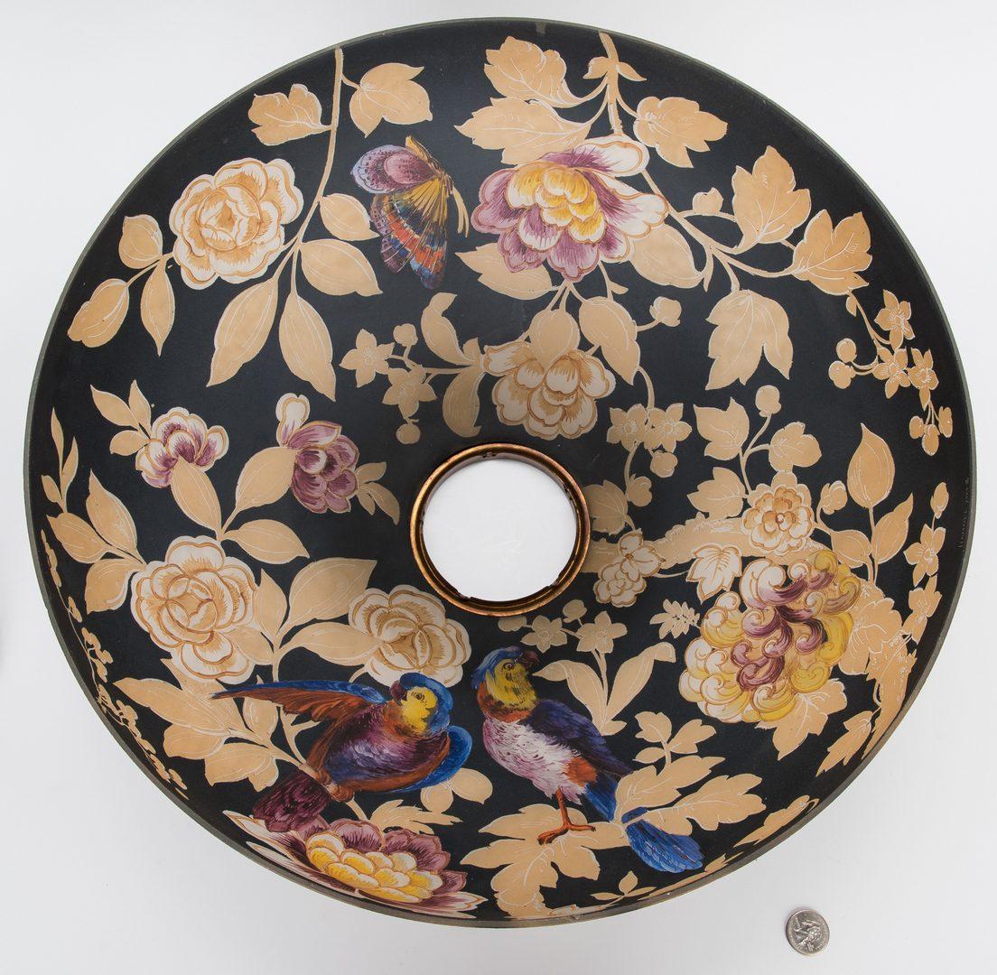 Lot 511: Handel Reverse Painted Table Lamp, Parrots