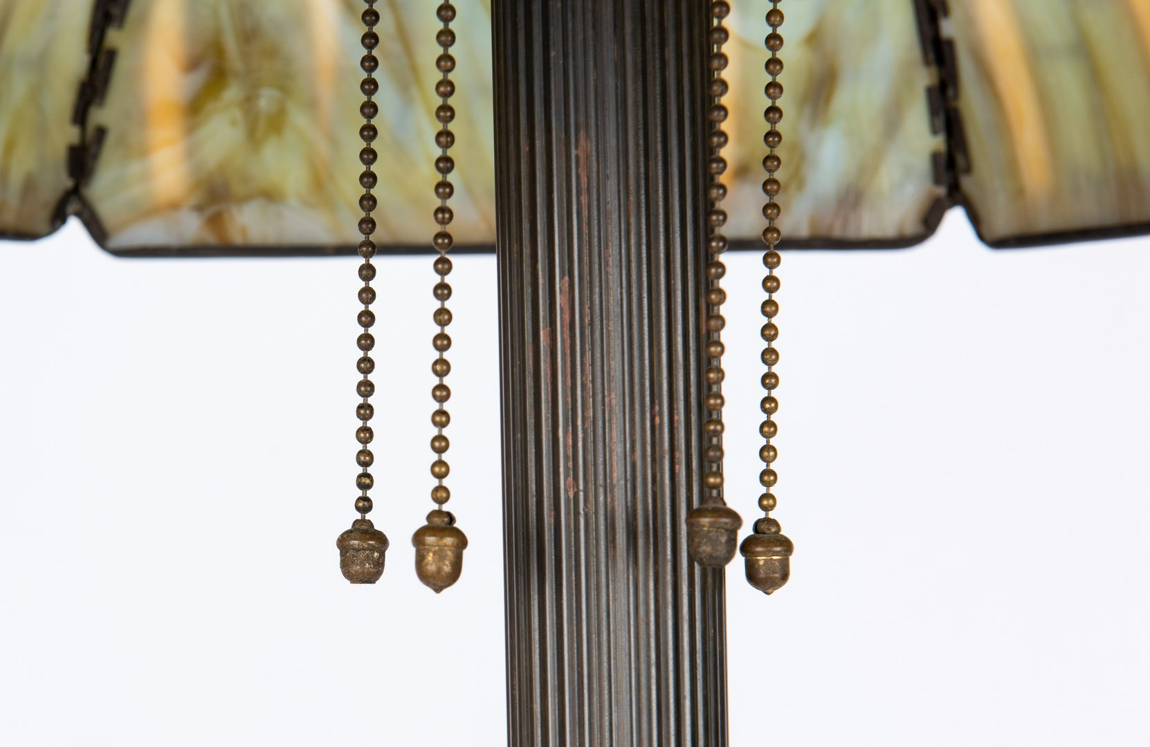 Lot 512: Handel Bronze Floor Lamp & Cattail Shade