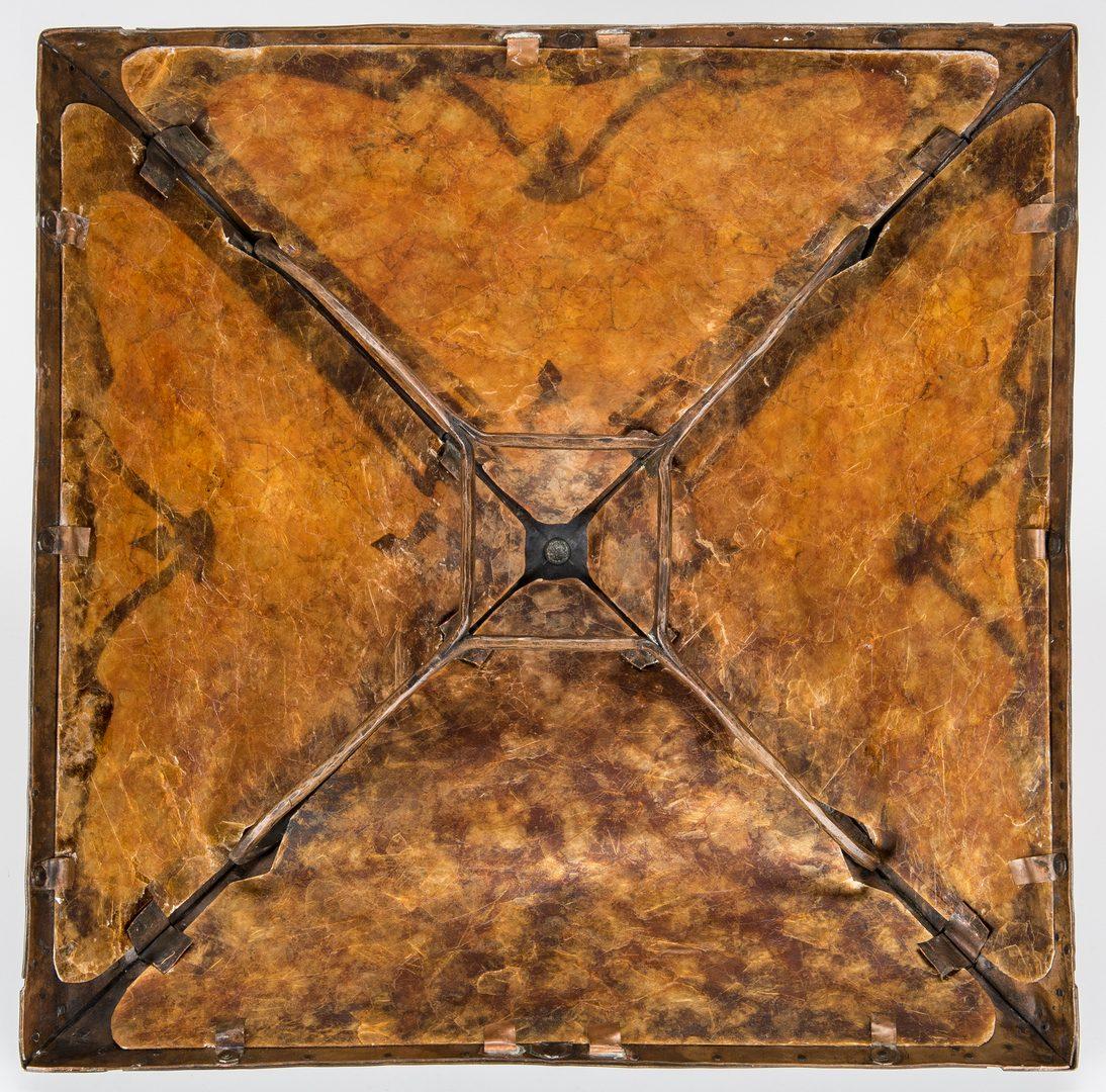 Lot 518: Arts & Crafts Hammered Copper Lamp