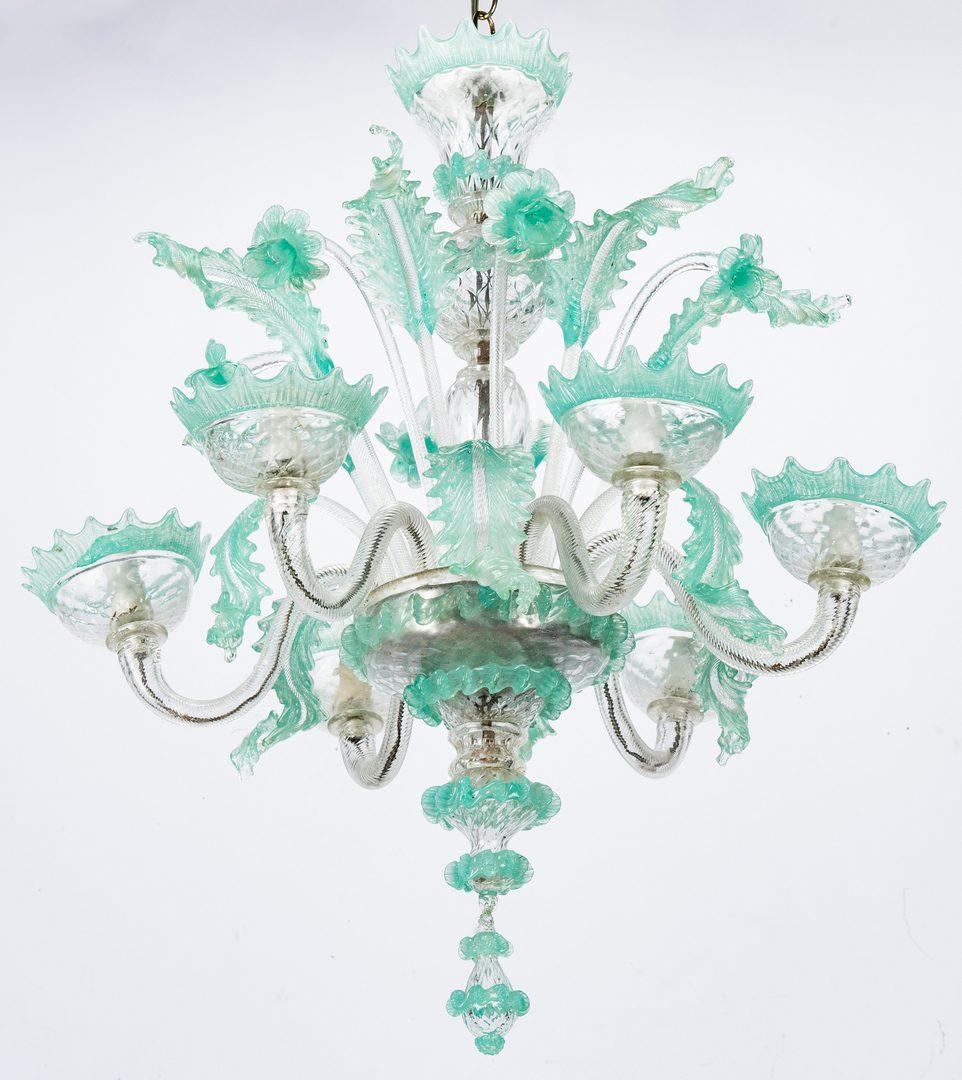 Lot 521: Italian Murano Glass Chandelier