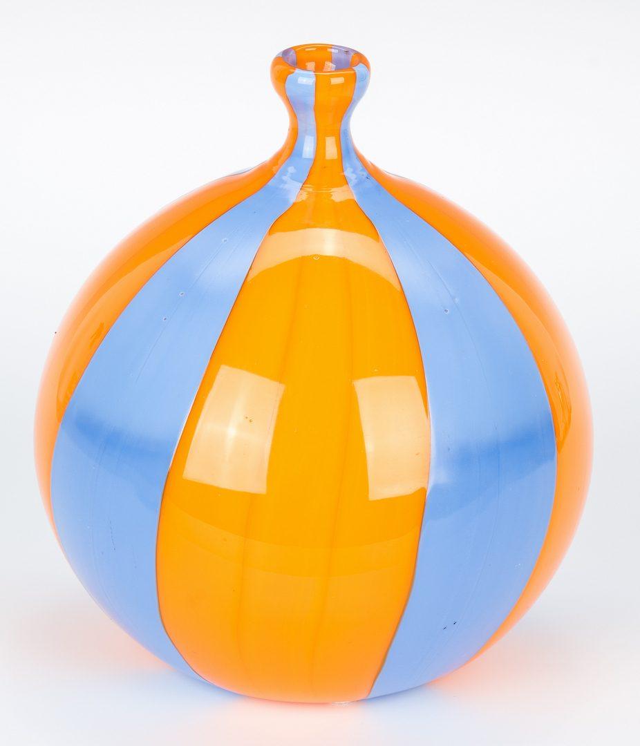 Lot 523: Massimiliano Schiavon Murano Glass Vase