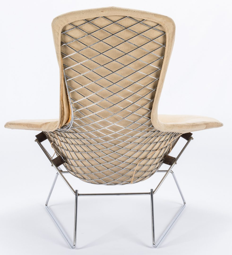 Lot 524: Mid-Century Knoll Diamond Chair & 2 Stools