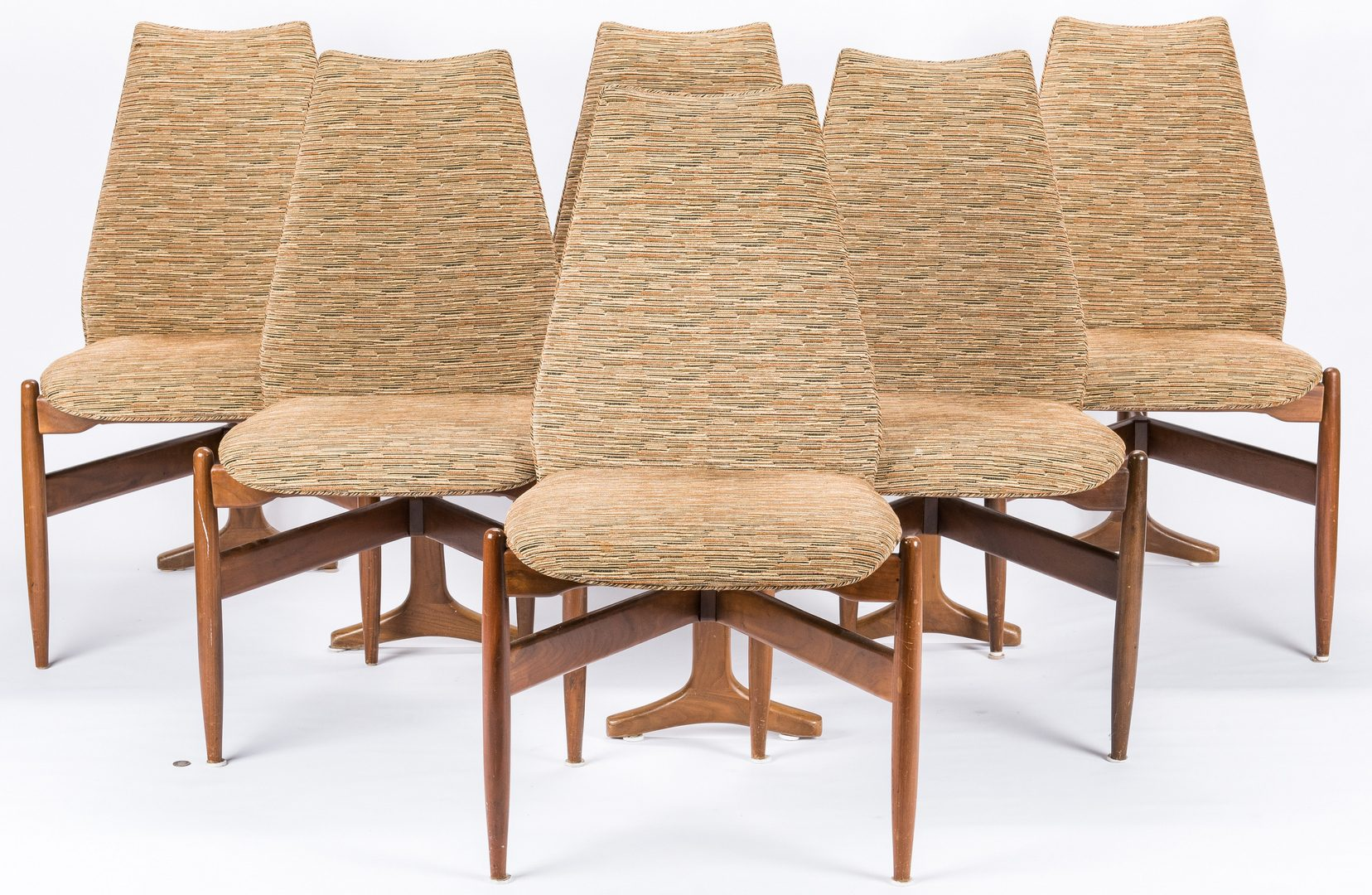 Lot 525: 6 Mid Century Modern T Back Chairs