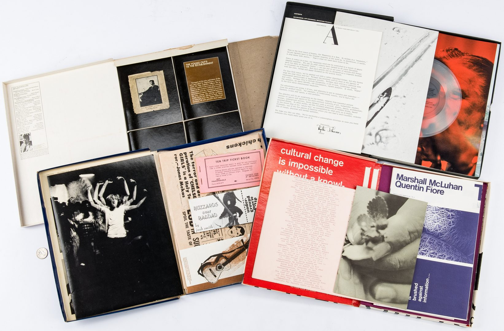 "Lot 526: 4 Aspen Magazines, incl. Warhol Designed ""Pop Art"" Issue"