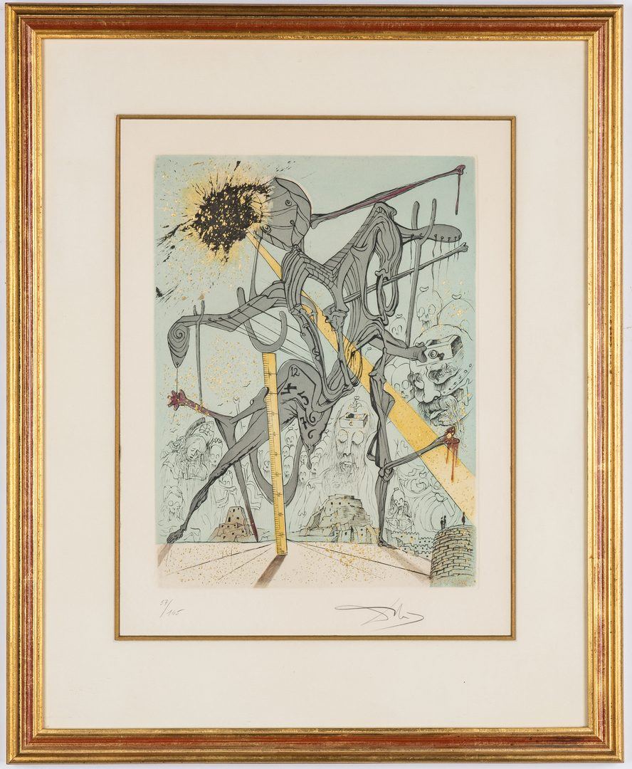 Lot 528: Salvador Dali Theatre at Denmark's Castle Lithograph