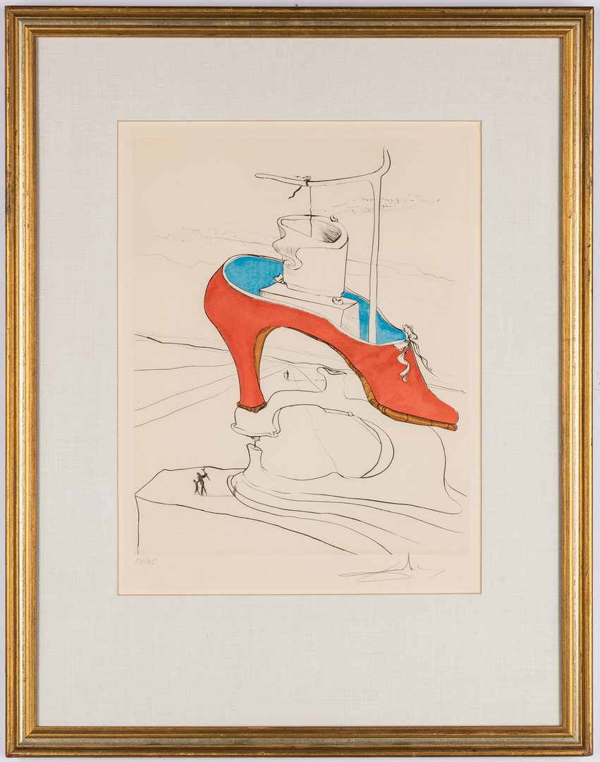 Lot 529: Salvador Dali Etching, The Curse Conquered