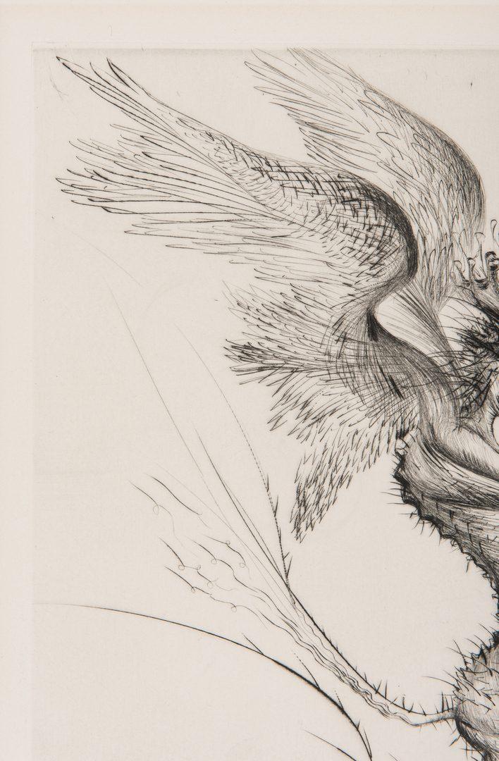 Lot 530: Salvador Dali Le Demon Aile Etching, 1/50