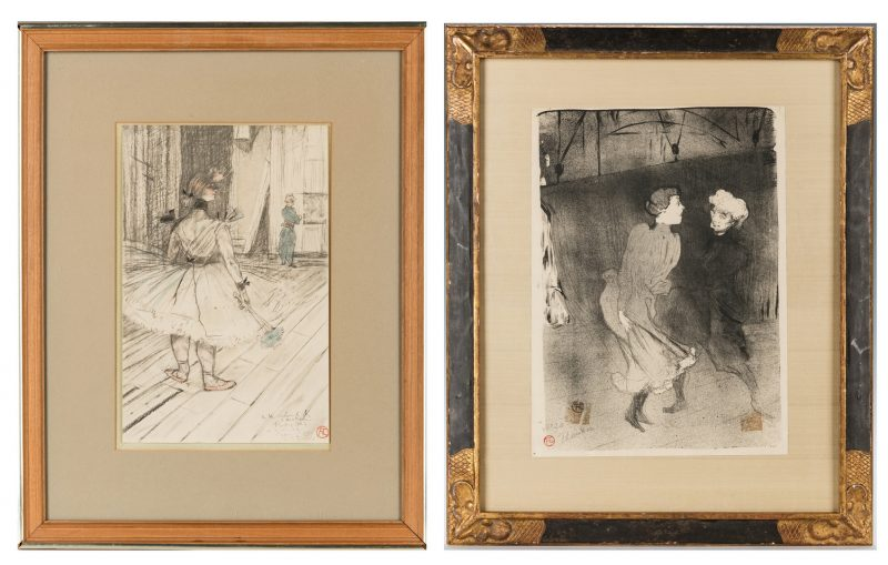 Lot 531: 2 Toulouse-Lautrec Lithographs, incl. Folies-Bergere, Au Cirque