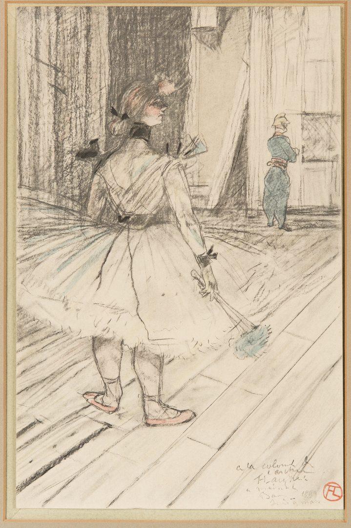 Lot 531: 2 Toulouse-Lautrec Lithographs, incl. Folies-Bergere, Au Cirque