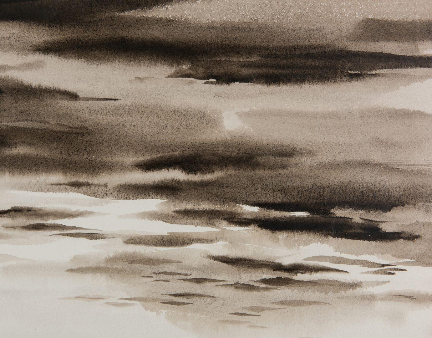 Lot 532: Victor Schreckengost Watercolor Fall Landscape